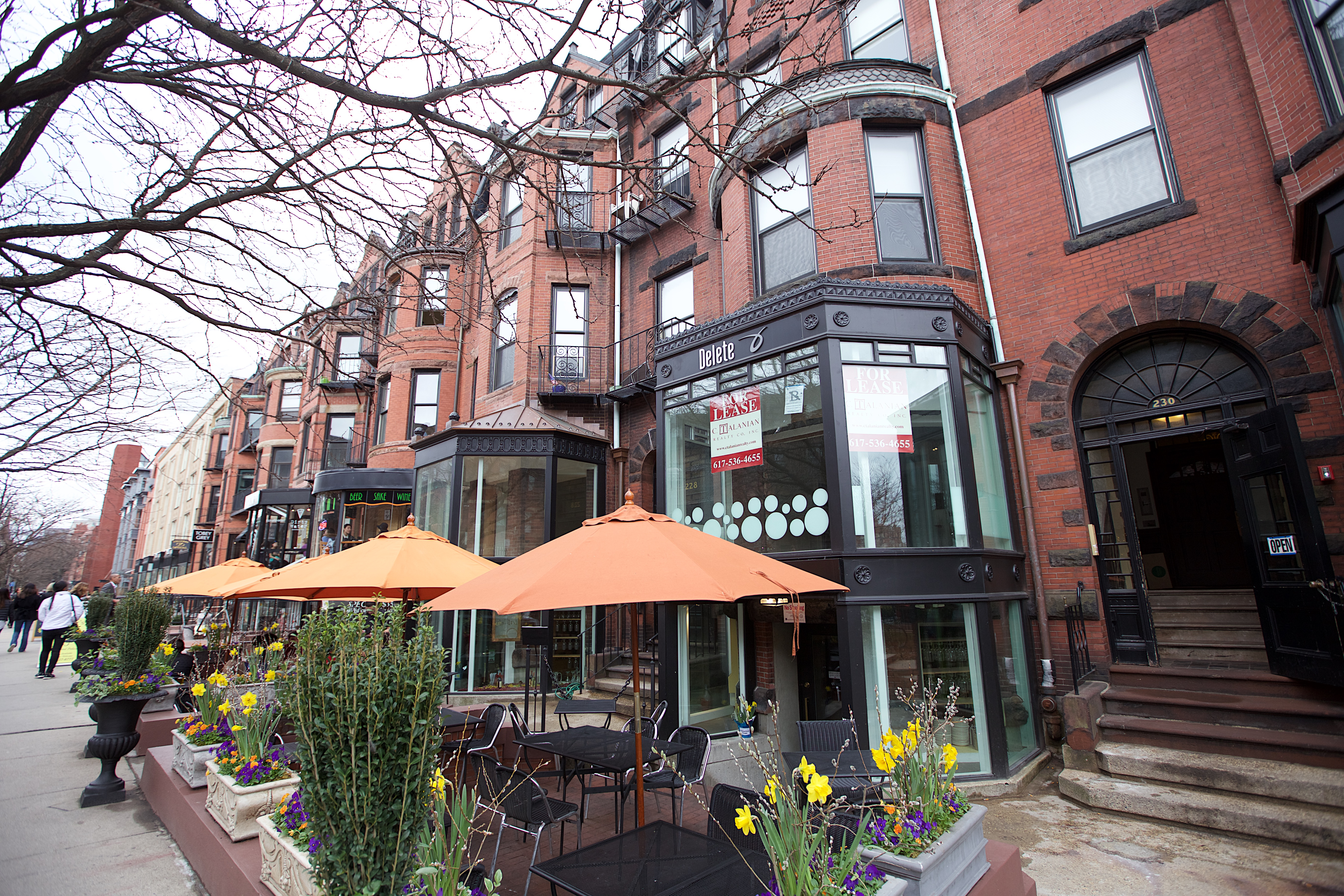 Newbury Street is an upscale shopping area in Boston's historic Back Bay District. The cluster of stores on Newbury Street begin at the Public Garden and end at Massachusetts Avenue to the west.